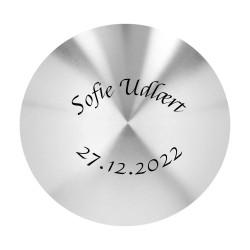 Medaljon hjerte sølv