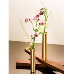 Læder armbånd 19 cm  brun