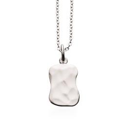 Læderarmbånd 19 cm  blank sort