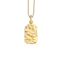 Læderarmbånd 23 cm  blank sort