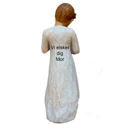 Flettet læder blå / sort 21 cm