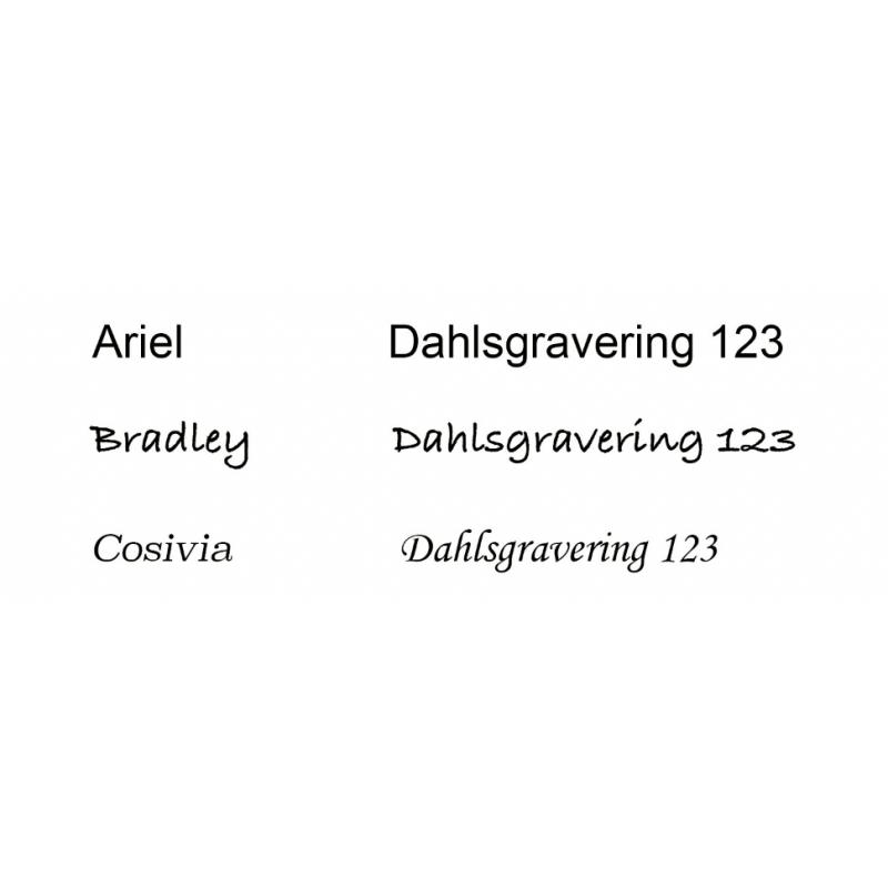 Massiv tags sølv 10 mm