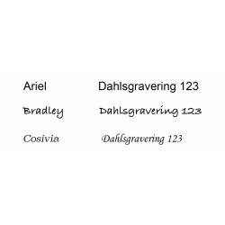 Forsølvet bordflag 40 cm