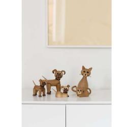 Collage på lærred 40 x 100 cm