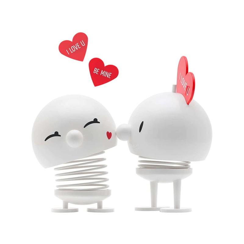 Hjerte nøglering med sort læder