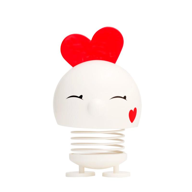 Nøglering blomst sort læder