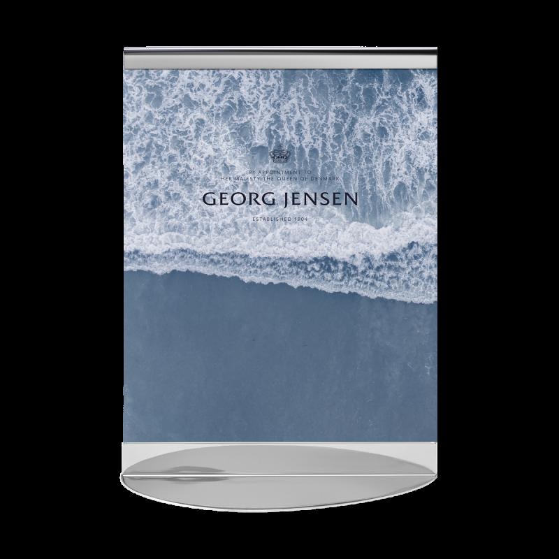 Hundetegn rød hjerte med sølv kant
